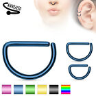 Piercingring Closure Ring Piercing D Form Shape 1,2mm Titan besch. Septum