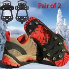 SNOW CRAMPONS ANTI SLIP ICE CLEATS GRIPPERS BOOTS SHOES OVERSHOE MEDIUM LARGE