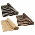 Bamboo Wood Table Placemats Large Serving Dining Roll Up Mats Sushi Oriental