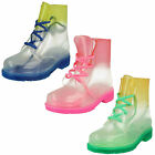WHOLESALE Ladies Transparent Ankle Wellingtons / Sizes 3x8 / 12 Pairs / F50223