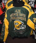 Green Bay Packers 4 Time Commemorative Championship Jacket - Free Shipping - New