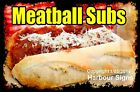 DECAL (Choose Your Size) Meatball Subs Food  Sticker Sign Restaurant Concession