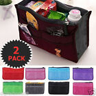 2x Women Lady Travel Insert Handbag Organizer Purse Pouch Small Liner Nylon Bag