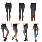 Women's Stretch High Waist Gym Yoga Fitness Leggings Pants Cropped Trousers LAUS