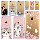 Mobile Phone Case Cover for iphone 6 6S 7 plus Soft Slim TPU Cute Naughty Cat