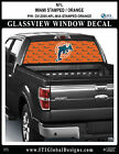 MIAMI DOLPHINS - STAMPED ORANGE Window Wrap / Truck Car SUV Decal Sticker NFL