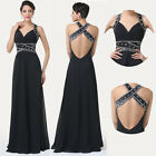 Sexy Backless Long Prom Dress Evening Ball Gown Cocktail Bridesmaid MAXI Dresses