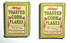 2 Lot Vintage Kelloggs Kellogs Toasted Corn Flakes Sample Cereal Box