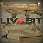 LIVABIT Police K9 Dog Tactical Velcro Molle Vest Harness + Canine Leash Tan