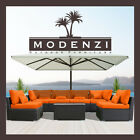 Modenzi 7G Outdoor Wicker Rattan Sectional Patio Furniture Sofa Set Ga