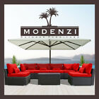 DINELI 7G Outdoor Wicker Rattan Sectional Patio Furniture Sofa Set Garden Chair