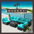 Modenzi 7G Outdoor Wicker Rattan Sectional Patio Furniture Sofa Set Garden Chair