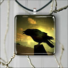 BIRD CROW AT SUNSET PENDANT NECKLACE 3 SIZES CHOICE -hnt5Z