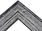 "2 1/4"" Black/Gray Driftwood Rustic Distresssd Wood Picture Frame-Panoramic"