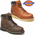 DICKIES NON-SAFETY BOOTS MENS LEATHER LACE UP ANKLE HIKING SHOES WORK SZ WELTON