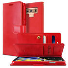 Double pocket Dual Flip Book wallet leather case cover iPhone 8 Galaxy S9 Note 9