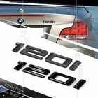 BLACK REAR BOOT 120i NUMBER EMBLEM BADGE BMW 1 SERIES E81 E82 E87 E88 F20 F21