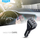 Lumsing 48W 9.6A 4-Port USB Car Charger Adapter for Cell Phone and Tablets