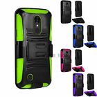 For LG Aristo LV3 Rugged Holster Kickstand Hard Shockproof Phone Case Cover