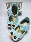 Summer Cute Owl Ankle Strap Kids Girls Jelly Shoes Soft Cartoon Sandals wF good