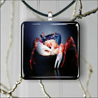 CRAB SEA LIFE RED AND BLUE PENDANT NECKLACE 3 SIZES CHOICE -fje3Z