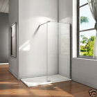 Aica 700x1850mm Wet Room Shower Screen Enclosure Telescopic Bar 8mm NANO Glass