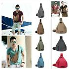 Men's Canvas & PU Leather CrossBody Satchel Messenger Shoulder Bag Handbag New W