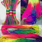 100ft/300ft Rainbow 550 Paracord Rope 7 Strand Parachute Cord Camping Hiking