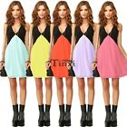 New Women Summer Boho Casual Sleeveless Party Evening Cocktail Short Mini Dress