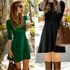 Fashion Womens Autumn Winter Slim Bodycon Sweater Mini Dress Long Tops TXCL