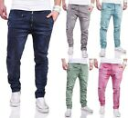 MAX & LIU Trendy Herren Skinny Biker Jeans Hose Chino Optik Destroyed Neu 6832