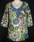 NWT Olian 3/4 Sleeve Floral Sheer Maternity Top Cover up Sm Med $79