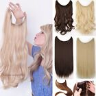 Long Real Thick Straight Curly Wire Headband One Pcs Clip in Hair Extension T2s