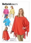 Butterick 6171 size 16-26 sewing pattern Dolman Sleeve tunic pullover