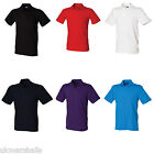 HENBURY MENS STRETCH COTTON PIQUE POLO SHIRT S-XXL H305