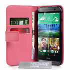 Yousave Accessories PU Leather Flip Wallet Folio Phone Case Cover HTC One M8