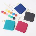 The Basic Prism Zipper Wallet Half Mini Purse Card Case Keyring Coin Key Holder