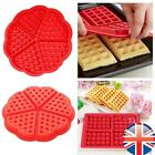 5-Cavity Waffles Cake Chocolate Pan Silicone Mold Baking Mould Tool Tray UK