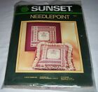 Sunset   Lace Ribbons   Needlepoint Picture or Pillow Kit Opened /EC #6321 (1984)