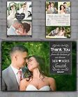 20 x Premium Personalised Wedding Thank You Cards & Envelopes