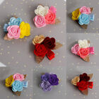 1/4 Pcs Baby Kids Girls Rose Flower Barrettes Hair Clips Hairpins Accessory