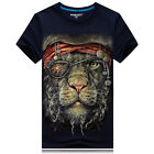 2017 Men 's summer 3D printing pirates-Pirates leopard-Short sleeve T-shirt