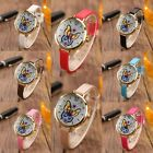 New Vintage Womens Ladies Butterfly Analog Quartz Leather Band Wrist Watches