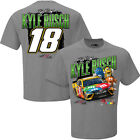 2017 KYLE BUSCH #18 M&M'S CHASSIS CAR MEN'S NASCAR GREY TEE SHIRT
