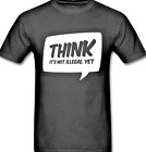 THINK It's not illegal yet Tee t shirt anti political anon anarchy free speech