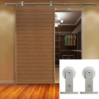 Внешний вид - 5-16FT Stainless Steel Modern Sliding Barn Door Hardware Track Roller Kit TShape
