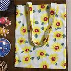 Handmade Cotton Linen Eco Shopping Tote Shoulder Bag Print Yellow Sunflower  B#