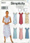 Simplicity 9631 Misses Easy  Dresses Sewing Pattern