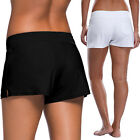 Women Ladies Full Coverage Swim Shorts Drawstring Swimwear Bikini Stretchy FO