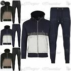 King Kouture Contrast PVC Panel Hooded Sweatshirt Jogger Bottoms Biker Tracksuit